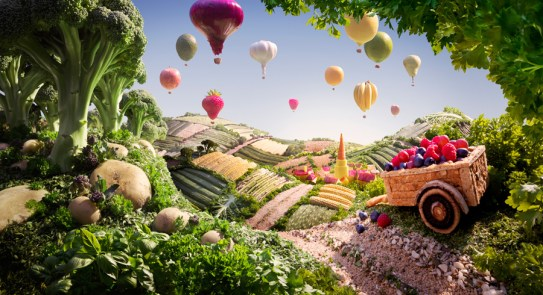 Les époustouflants Foodscapes de Carl Warner